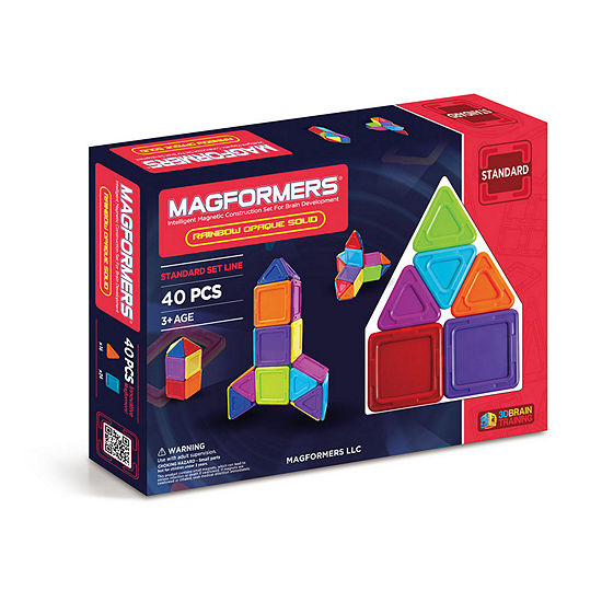 Magformers Solids Opaque Rainbow 40 PC. Set
