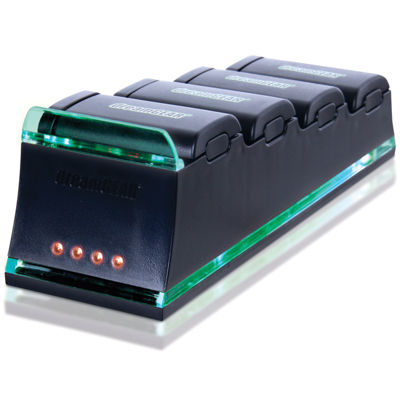 DreamGear DG360-1710 Quad Dock Pro Battery Charger for XBox 360 - Batteries Sold Separate