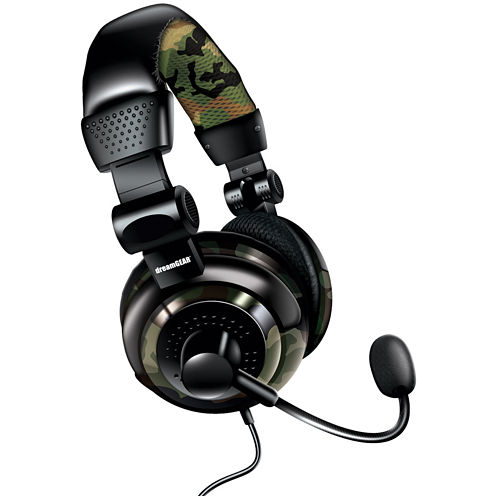 DreamGear DGUN-2574 Universal Elite Camo Wired Headset for PS4, PS3, XBox 360, XBox One, Wii, WiiU and PC