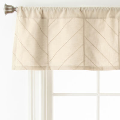 Home Expressions Arden Rod-Pocket Tailored Valance