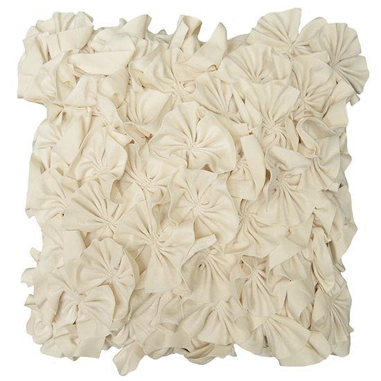 "18"" Meadow Ruffle Decorative Pillow"
