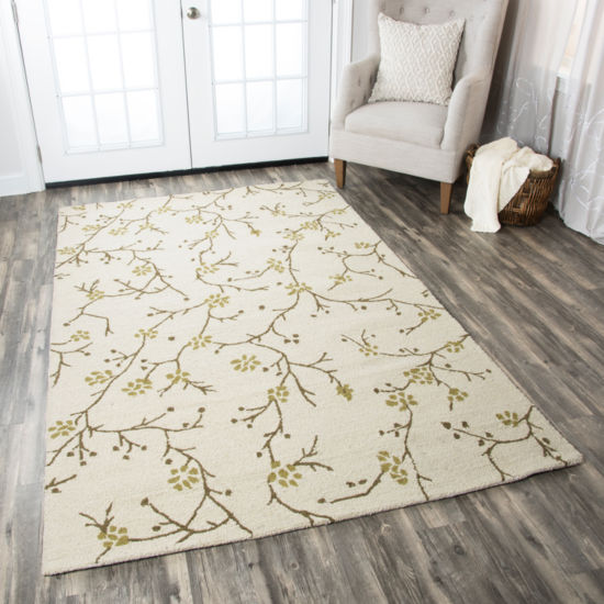 Rizzy Home Country Floral Rectangular Rugs
