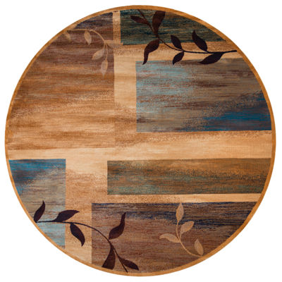 Rizzy Home Bellevue Abstract Round Rugs