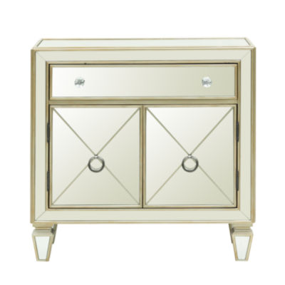 Home Meridian Mirrored Chest Storage Chest