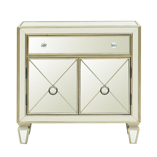 Home Meridian Mirrored Storage Chest