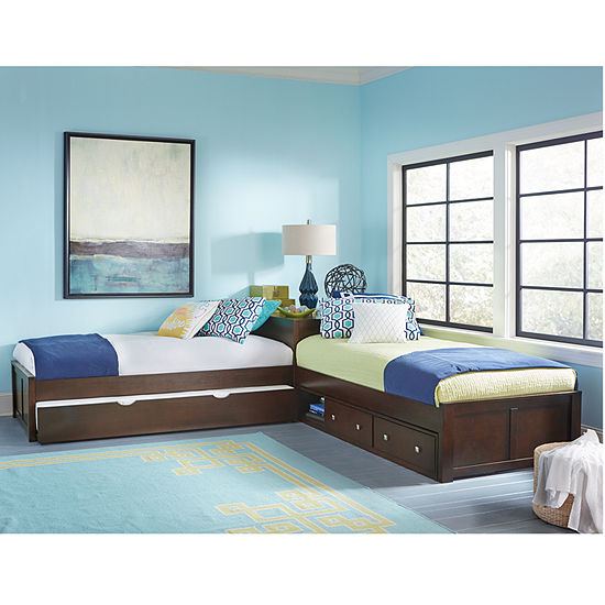 Possibilities L-Shaped Bed with Double Storage