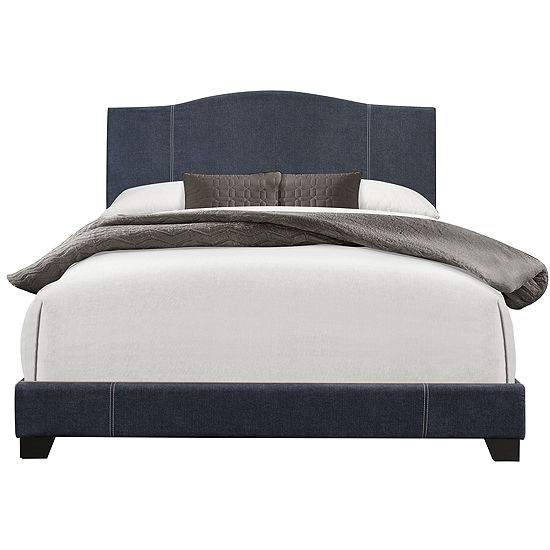 Home Meridian Camel Back Queen Size Upholstered Platform Bed
