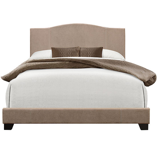 Home Meridian Camel Back Upholstered Platform Bed