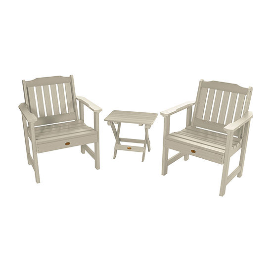 Highwood 2 Lehigh Garden Chairs With 1 Folding Adirondack Side Table