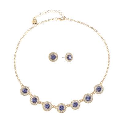 Monet Jewelry Womens 2-pack Purple Jewelry Set