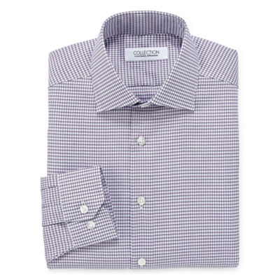 Collection by Michael Strahan  Wrinkle Free Cotton Stretch Long Sleeve Dress Shirt