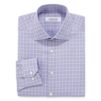 Collection by Michael Strahan  Wrinkle Free Cotton Stretch Big And Tall Mens Spread Collar Long Sleeve Wrinkle Free Stretch Dress Shirt