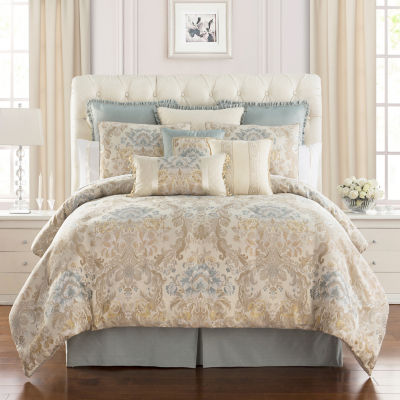 Marquis By Waterford Warren Jacquard 4 Piece Comforter Set