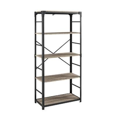 "64"" Angle Iron 4-Shelf Bookshelf"