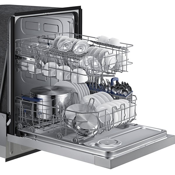 Samsung ENERGY STAR® Front Control Dishwasher with Stainless Steel Interior