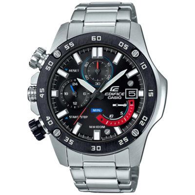 Casio Mens Silver Tone Bracelet Watch-Eqs800cdb-1bv