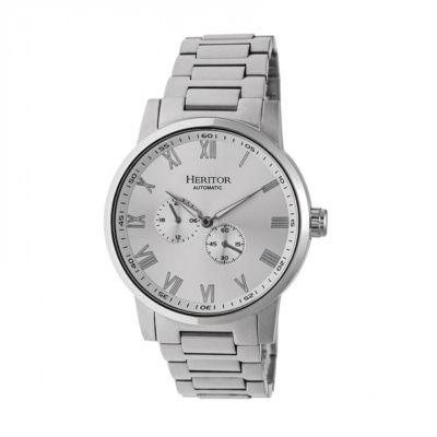 Heritor Unisex Silver Tone Bracelet Watch-Herhr6401