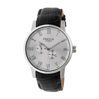 Heritor Unisex Black Strap Watch-Herhr6403