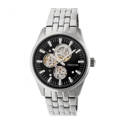 Heritor Unisex Silver Tone Bracelet Watch-Herhr6502
