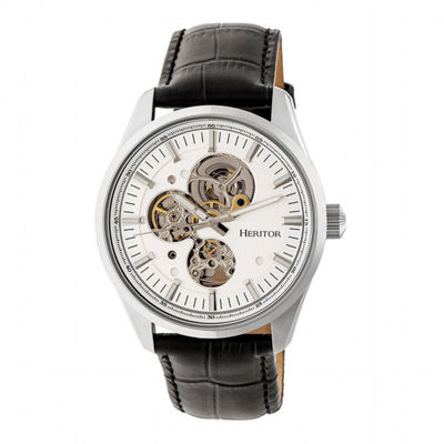 Heritor Unisex Black Strap Watch-Herhr6503