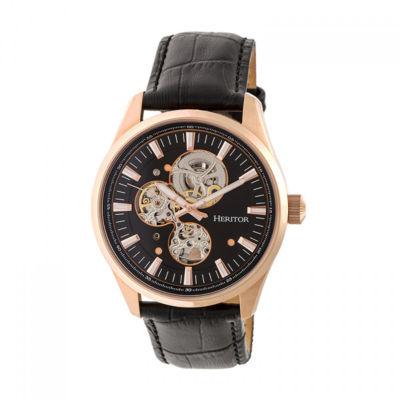 Heritor Unisex Black Strap Watch-Herhr6506