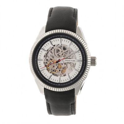 Heritor Unisex Black Strap Watch-Herhr6601