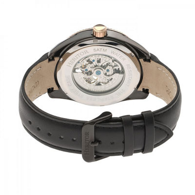 Heritor Unisex Black Strap Watch-Herhr6605