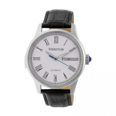 Heritor Unisex Black Strap Watch-Herhr6701