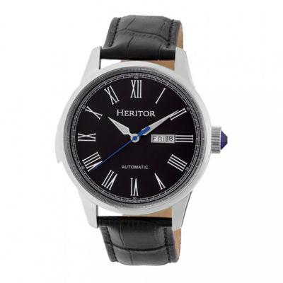 Heritor Unisex Black Strap Watch-Herhr6702