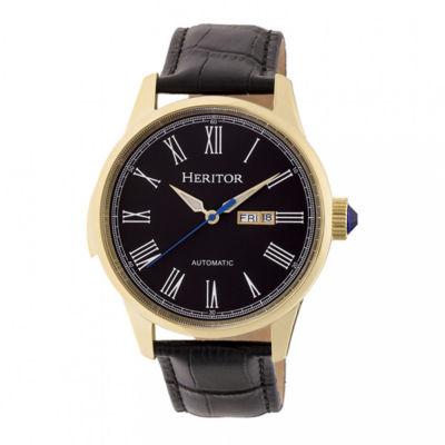 Heritor Unisex Black Strap Watch-Herhr6703
