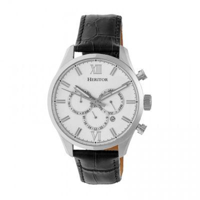 Heritor Unisex Black Strap Watch-Herhr6801
