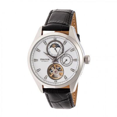 Heritor Unisex Black Strap Watch-Herhr6901