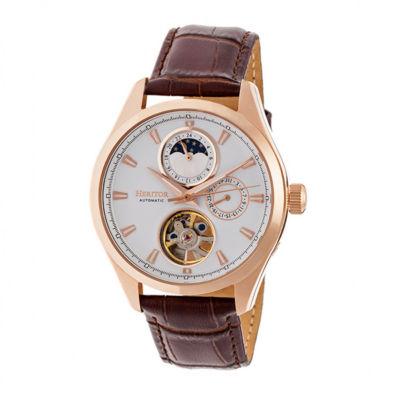 Heritor Unisex Brown Strap Watch-Herhr6904