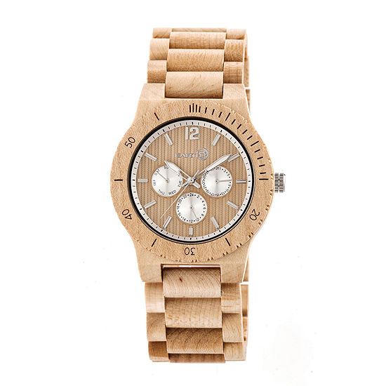 Earth Wood Unisex Brown Bracelet Watch-Ethew5301