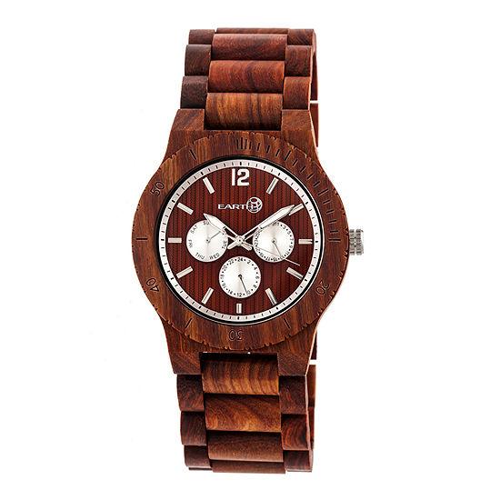 Earth Wood Unisex Red Bracelet Watch Ethew5303