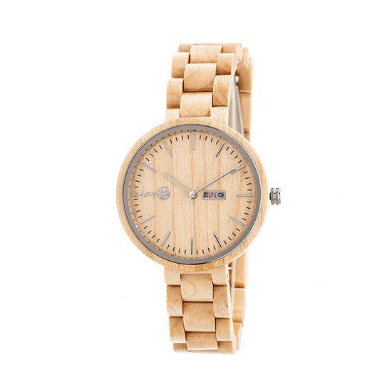 Earth Wood Unisex Brown Bracelet Watch-Ethew5401