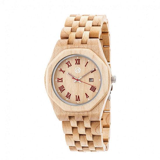 Earth Wood Unisex Brown Bracelet Watch-Ethew5501