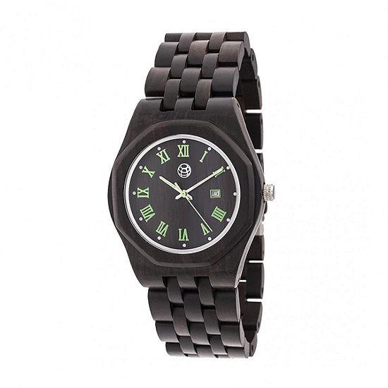 Earth Wood Unisex Adult Brown Bracelet Watch-Ethew5502