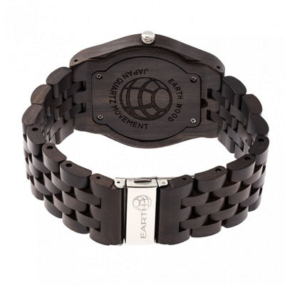 Earth Wood Unisex Brown Bracelet Watch-Ethew5502