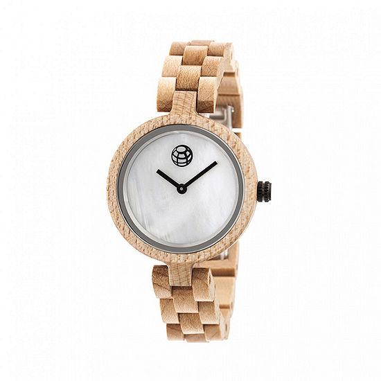 Earth Wood Unisex Adult Brown Bracelet Watch-Ethew5601