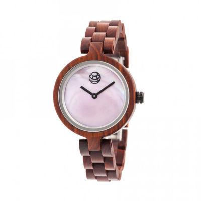 Earth Wood Unisex Red Bracelet Watch-Ethew5603
