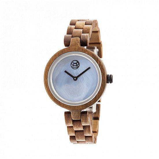 Earth Wood Unisex Brown Bracelet Watch-Ethew5604