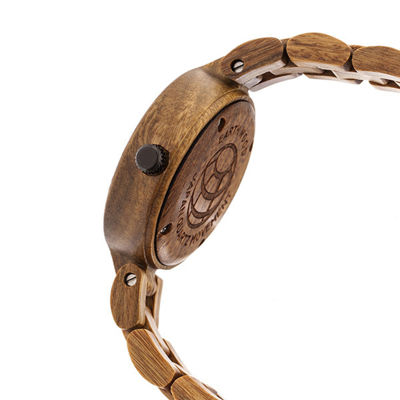 Earth Wood Unisex Brown Bracelet Watch-Ethew5604