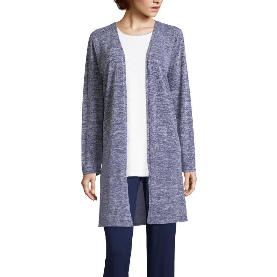 Liz Claiborne Long Sleeve Cardigan-Tall