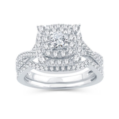 Womens 1 CT. T.W. Diamond 10K Gold Bridal Set