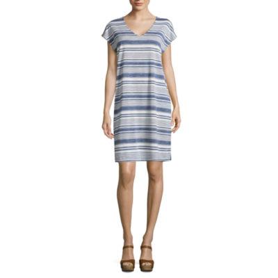 Liz Claiborne V-Neck Dress - Tall