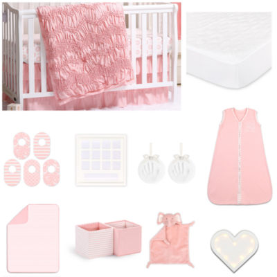 The Peanut Shell Jayden Essentials 18 Piece Crib Bedding Set