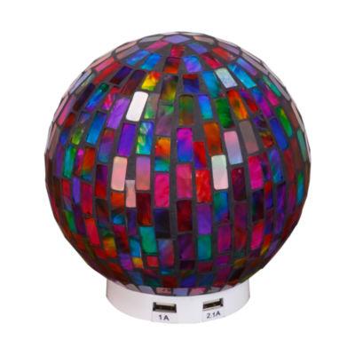 L.Idea Mosaic Globe Zen Led Table Lamp with USB Port