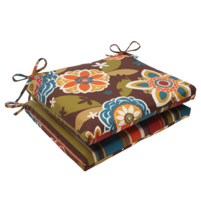 Pillow Perfect Squared Corners Seat Cushion (Set of 2)