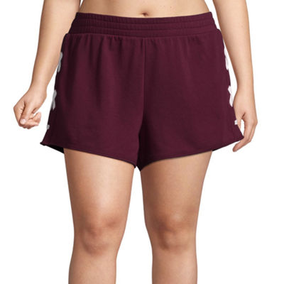 Flirtitude Lace Up Pull On Shorts - Juniors Plus
